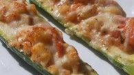 What's not to love about Zucchini stuffed with cheese, stuffing, and seasonings? A great side to just about any dish, this is a sure way to get me to eat...