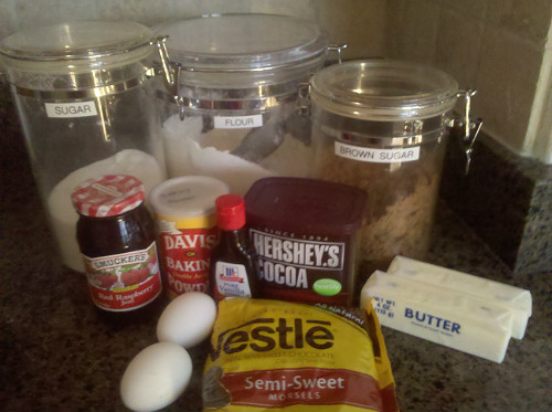 Chocolate Raspberry Cookies - Ingredients