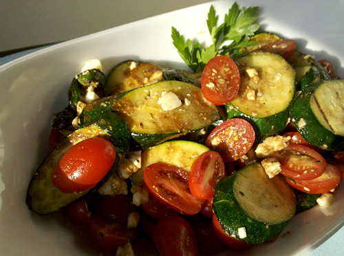 Grilled Squash, Tomato & Feta Cheese Salad
