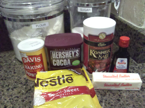 Chocolate Fudge Brownie Ingredients