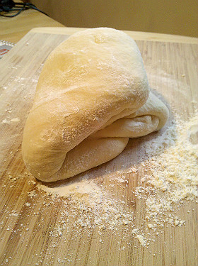 Fold dough over