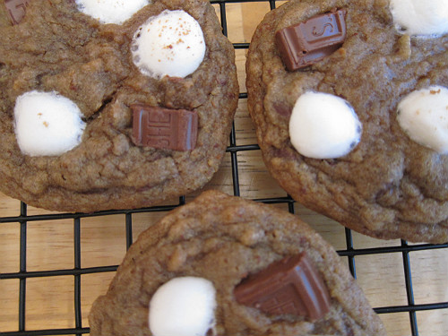 Multiple Smore Cookies