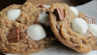 These S'more cookies are ooey goeey delicious. S'more meets chocolate chip cookie in this mashup.