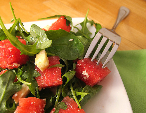 Arugula Watermelon and Feta Salad