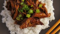 Asian inspired tender pork with sticky sweet and salty sauce.