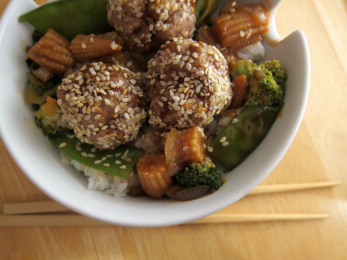 recipe: chinese turkey meatballs [15]