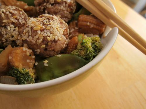 recipe: chinese turkey meatballs [36]