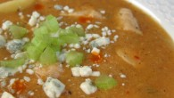 A hot twist on an old classic - buffalo chicken chowdah!