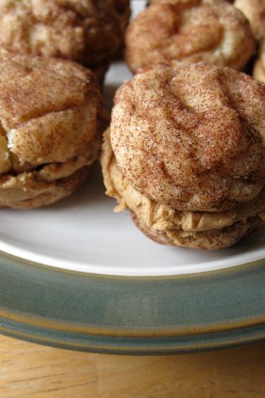 snickerdoodle sandwich cookie
