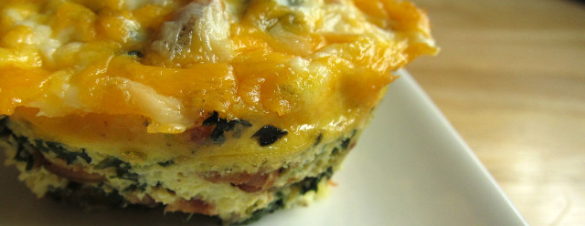 Crustless Bacon Egg and Cheese Quiche