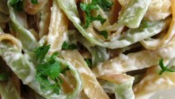 An almost guilt free fettuccine alfredo recipe.
