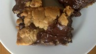 Ooey gooey chocolate chip cookie bars