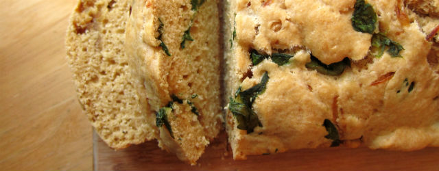 spinach feta quick bread